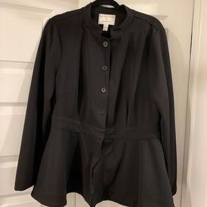 Lane Bryant black peplum blazer